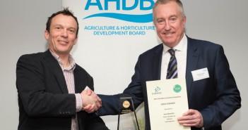 Sam Markillie YEN Wheat Quality Award Winner Gold with Howard Leland.