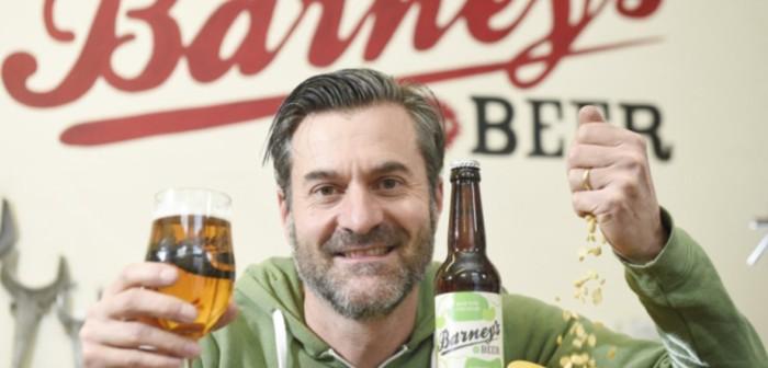 A craft beer, brewed in Edinburgh by Barneys Beer, featuring UK-grown beans