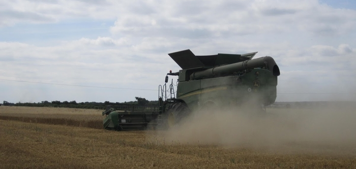 Combine and stubble