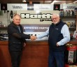 L-R Alan Mackay with Haiths Ken Hollingsworth