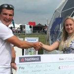 2018 winners Alice Clews receiving her prize from-James Kennedy
