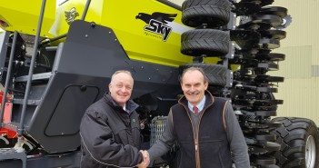 (left to right) Charles Bedforth, sales manager, Opico with Dick Spencer, sales director, C&O Tractors