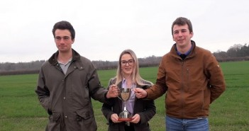 William Watson, Olivia MacGarvie and Philip Dray from IBERS-Aberystwyth University with the 2018 NIAB Agronomy Cup