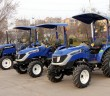 Foton Lovol tractor range with optional operator canopies fitted