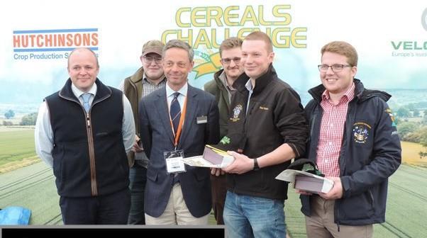 Harper Adams take the 2019 Cereals Challenge. L_R (front row) Matt Cobbald,David Hutchinson, Dan Hawes, Danny Richardson. Back row George Atkey, Tom Kirby