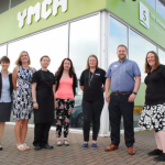Pictured from left to right are: Lydia Martin, early careers development advisor at Frontier Agriculture; Nicola Hall, Key account manager for Lincoln College; apprentices Cecily Mumby, Laura Fisher and Rebecca May; Matt Brown, resourcing manager at Lincolnshire Co-op; Rachell Elvidge, senior financial accountant at Frontier Agriculture.