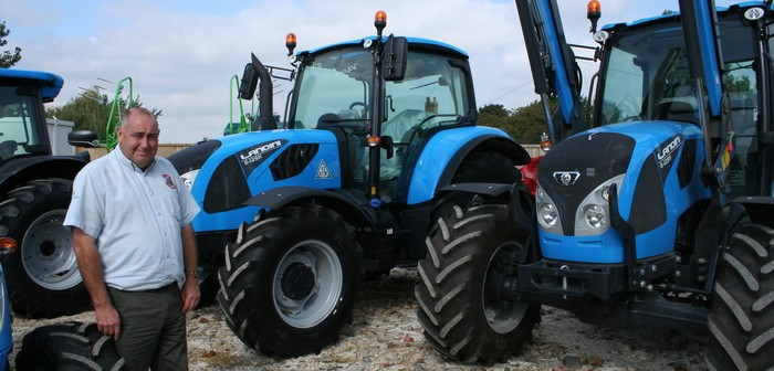 First outing for Landini tractors at the Midlands Machinery Show with new dealer