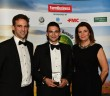 David Stead receives his award from Simon Parker of Corteva and political commentator Julia Hartley-Brewer