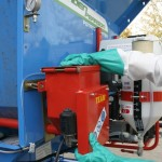 On-planter powder applicator
