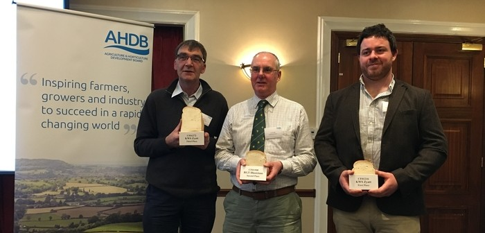 EN Wheat Quality Award Winner (L-R) Trevor Pierce 3rd, Ian Rudge 2nd, James Perry 1st