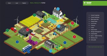 Visitors invited to drive around the BASF Virtual Farm to collect BASIS points