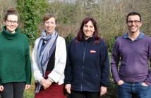 eft to right: Lucy Redmore, Technical Coordinator, LEAF; Deborah Whitfield, Consultancy Manager, HIWWT; Leah Mathias-Collins, Environment Manager, Vitacress; Ben Rushbrook, Senior Ecologist, HIWWT.