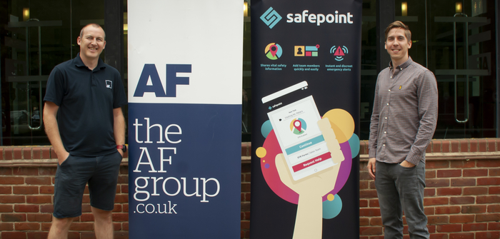 Callum Coombes, CEO for Safepoint, and Michael Simnett, Communications Projects Lead for the AF Group.