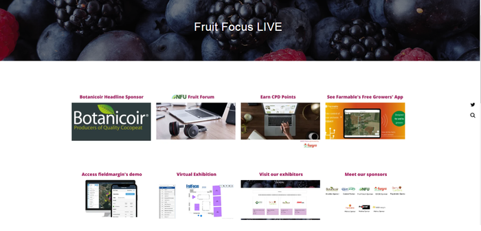 Fruit Focus Live home page