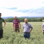 Hereford Monitor Farm hosts left to right: Jack Hopkins, Adam Lewis, Rob Beaumont and Martin Carr