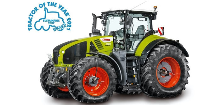 CLAAS AXION 960 CEMOS is Sustainable Tractor of the Year 2021